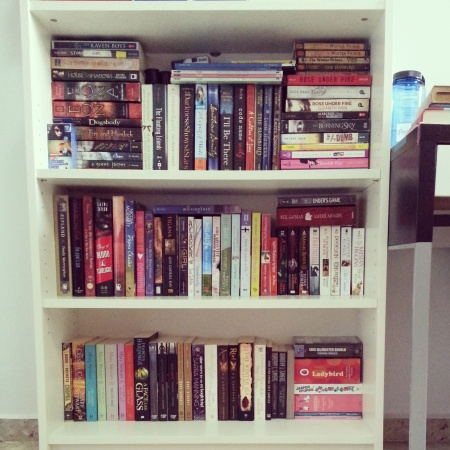 My bookshelf in Singapore