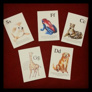 letter animal postcards