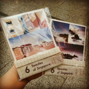 6 Beauties of Singapore postcard set