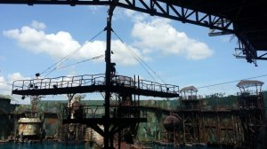 Setting of the Waterworld show