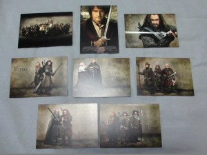 Hobbit postcard set cast
