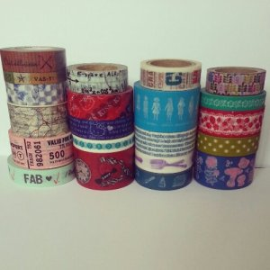 washi tape collection as of April 2013
