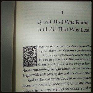 The Book of Lost Things chapter headings