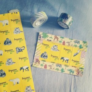 washi postcard - Singapore Zoo