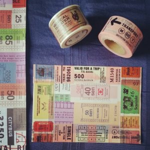washi postcard - tickets