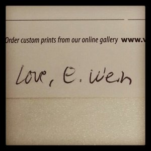 Brisbane postcard from EWein - signature