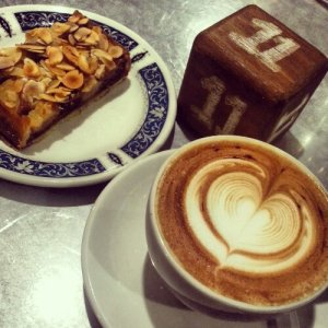 Dessert and coffee from Tiong Bahru Bakery