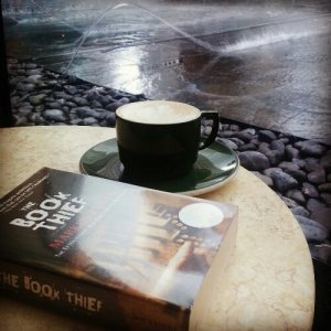 The Book Thief plus latte