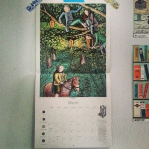 Moving - The Hobbit calendar