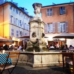Aix-en-Provence - fountain at night
