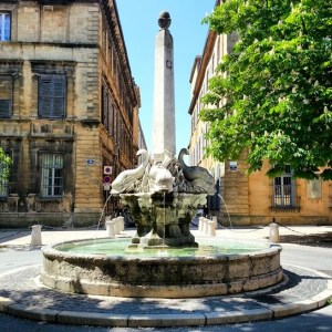 Aix-en-Provence - four dolphins fountain