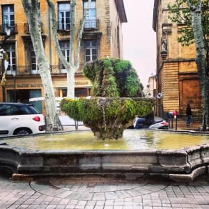 Aix-en-Provence - mossy fountain
