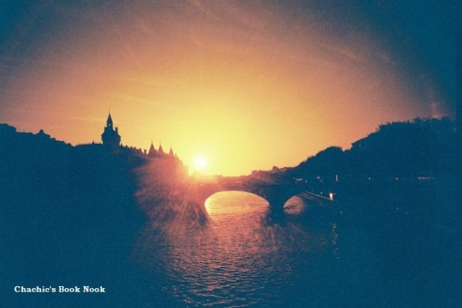 Lomo - Paris bridge sunset