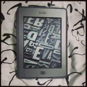 Kindle on bed