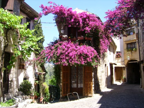 Exploring the streets of the towns around Grasse leads here, in Cagnes (Haut de Cagnes), France.