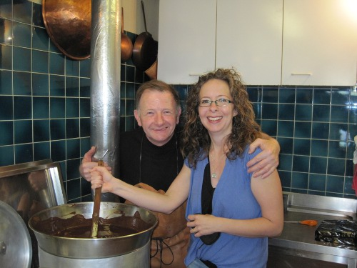 Laura with chocolatier Michael Chaudun
