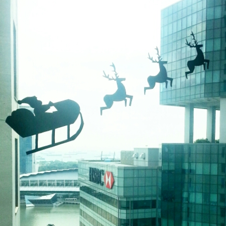 Office window - Christmas
