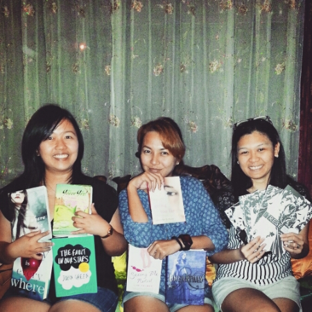 Borrowed books - Ena, Chuch and Mich