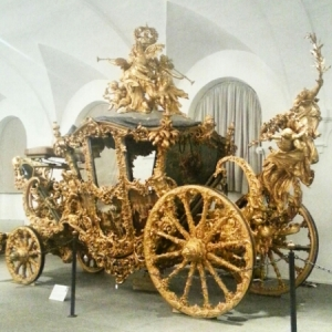 Nymphenburg Palace - golden carriage