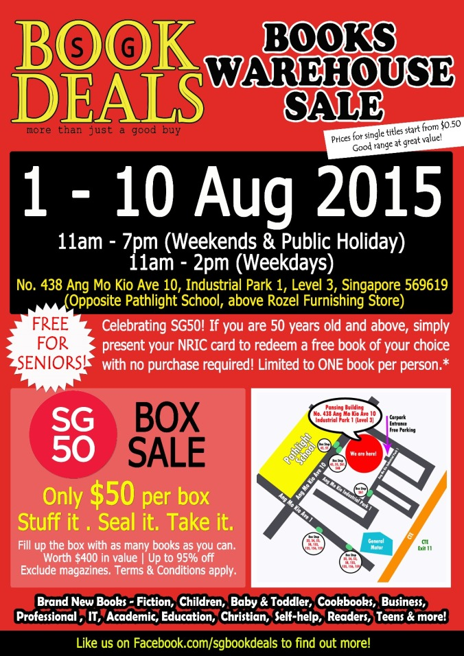 SG BOOK DEALS WAREHOUSE SALE POSTER