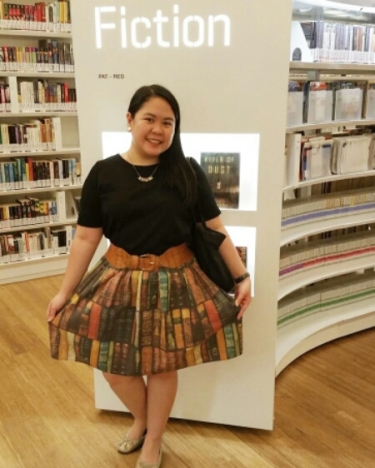 Chachic - ootd - book skirt 2
