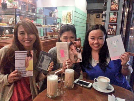 Chuchay, Mich and Ena with gifts
