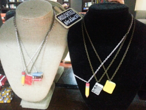 Book and Borders - necklaces