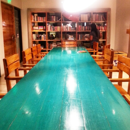 Tweedle Book Cafe - May 2016 - long table
