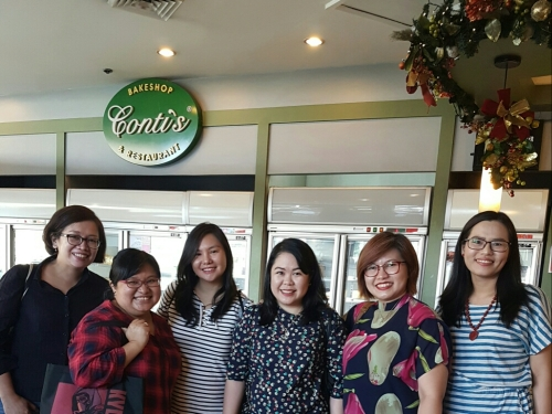 Last Friday's brunch meet up with Filipino readers and authors: Celina, Chris, Mina, Honey and Kim